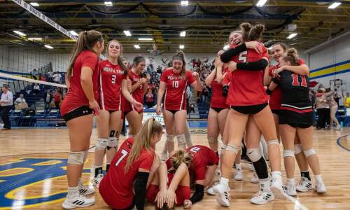 North Tama trips Lisbon, returns to state volleyball
