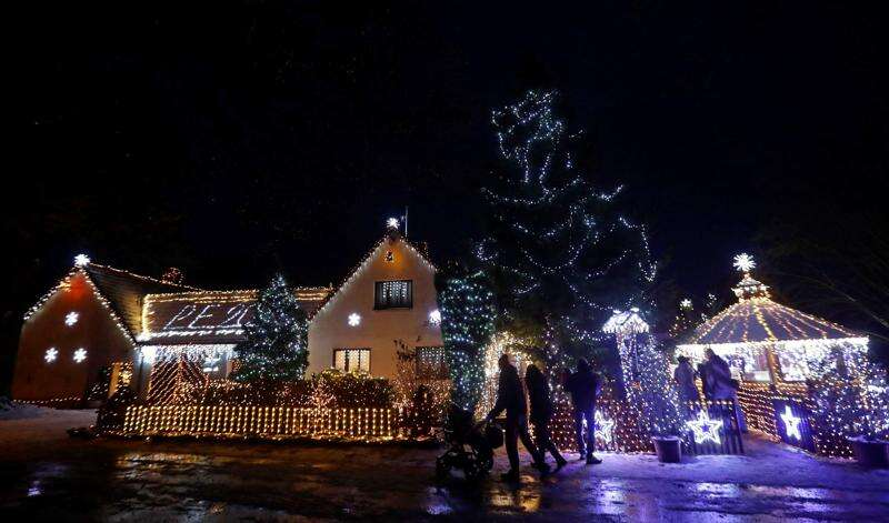 All is bright: Czech home sparkles under 50,000 festive lights
