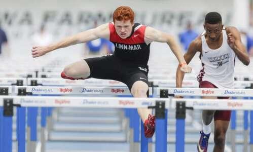 Iowa 4A boys' state track: Emotions flow for Trent Davis…