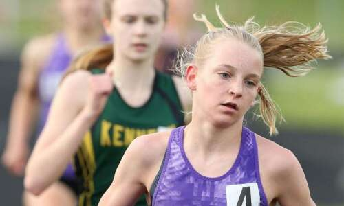 Liberty's Ashlyn Keeney, West's Gabe Caruthers shine in state-qualifying track…
