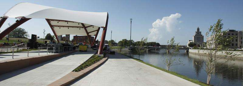 Sweet relief: New flood control plans include bathrooms for McGrath Amphitheatre