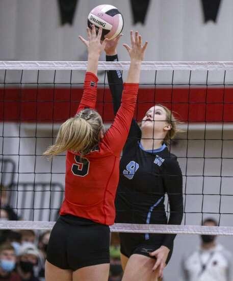Photos: WACO vs. Lisbon, Iowa high school volleyball