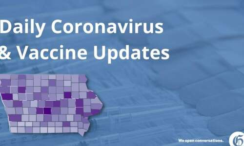 Iowa adds 66 virus cases on Monday, zero new deaths