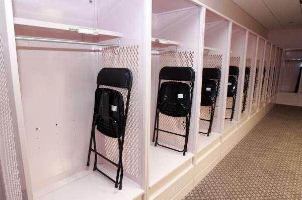 Pink locker rooms get critical look