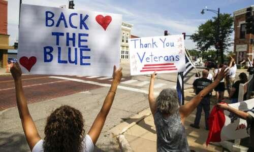 Do 'blue lives matter' in Iowa?
