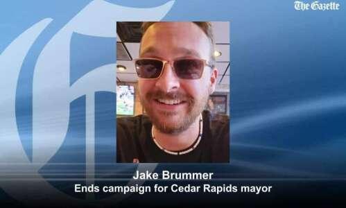 Jake Brummer exits Cedar Rapids mayoral race