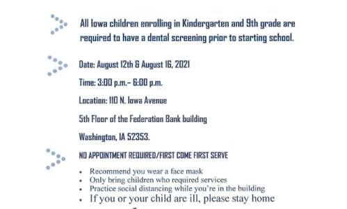 Washington County holding free back-to-school dental screenings
