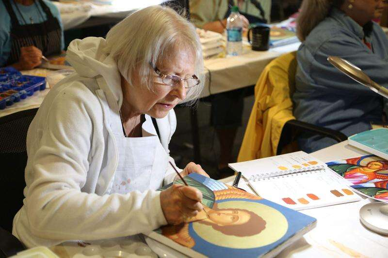 His art is a way of 'meeting with the divine,' iconographer says