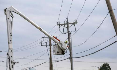 More than half of Alliant's customers have power in Linn…