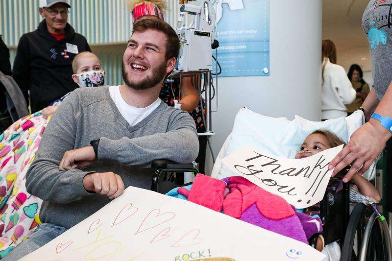 UI Children's Hospital celebrates 'King of kindness' and his $3 million fundraising effort