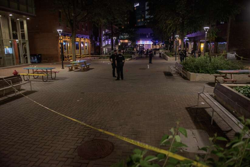 2 injured after shots fired on Ped Mall in downtown Iowa City