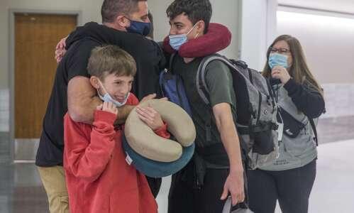 Adopted Ukrainian boys arrive home at last to Hiawatha