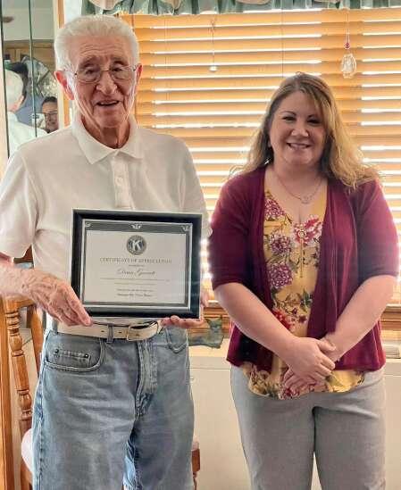 Garrett honored for 53 years in Washington Kiwanis
