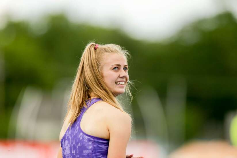Iowa state track 2A, 1A girls' results: Another Hostetler win, another Mid-Prairie championship