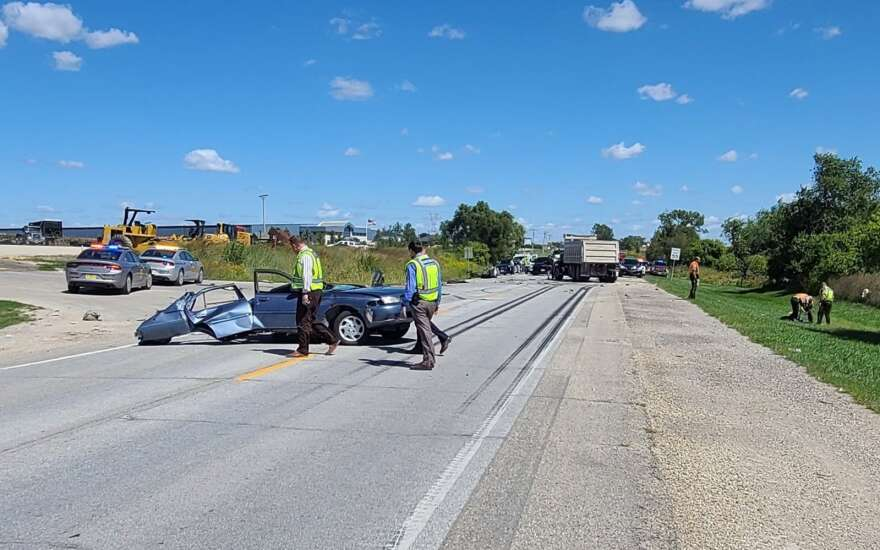 2 killed in collision with dump truck near Walford