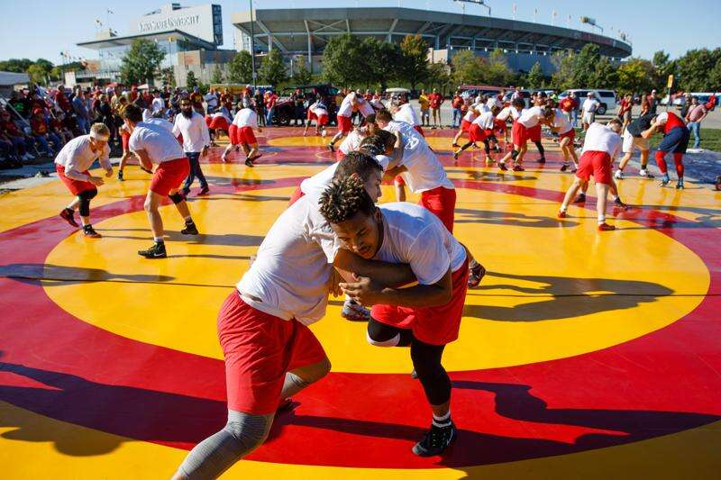 Outdoor wrestling practice provides opportunities, exposure for Iowa State