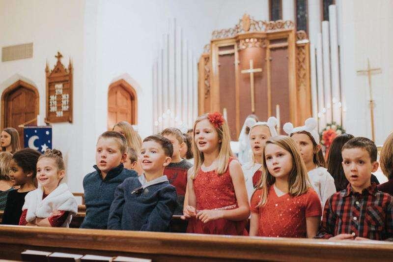 St. Stephens's children celebrate Christmas