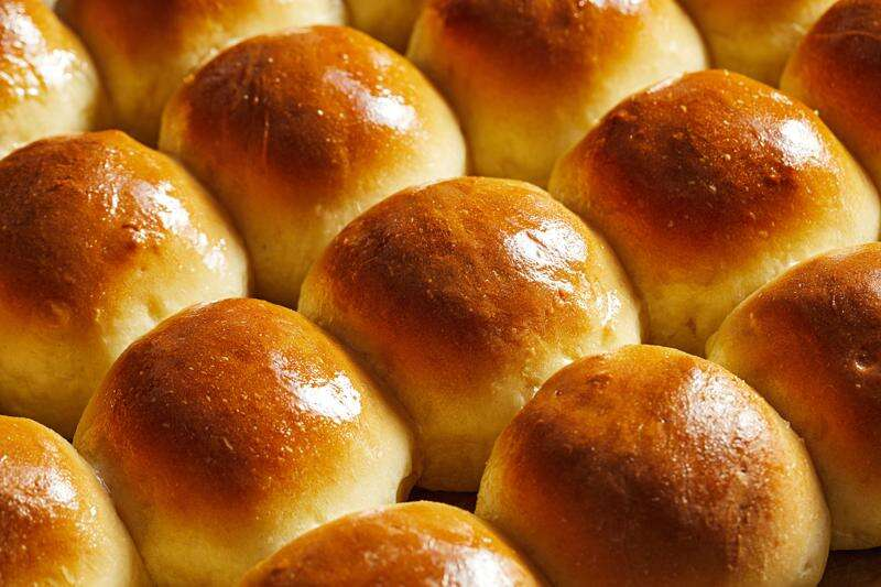 Fluffy pull-apart dinner rolls are cinch to make