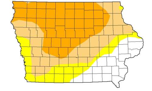 Drought causing deterioration in Iowa