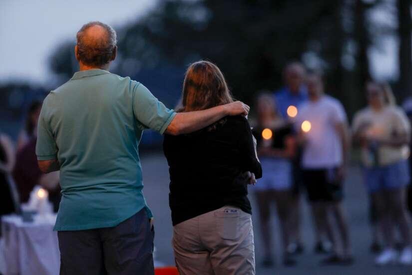 With hugs and tears, former classmates honor Sabrina Jackson