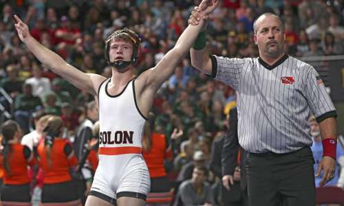 Bryce West claims third state wrestling title, Solon edges New…