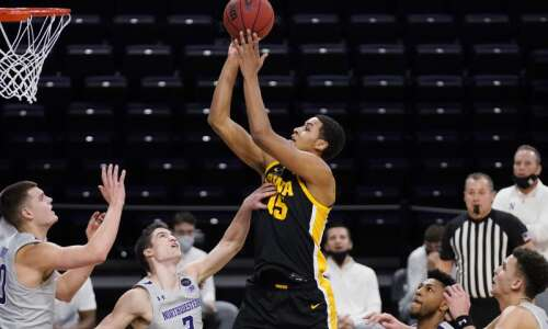 Iowa men's basketball loving new view from top of the…