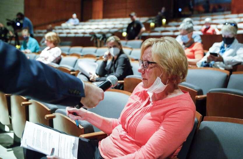 Iowa U.S. Rep. Ashley Hinson targets Democratic 'spending spigot' during Cedar Rapids town hall