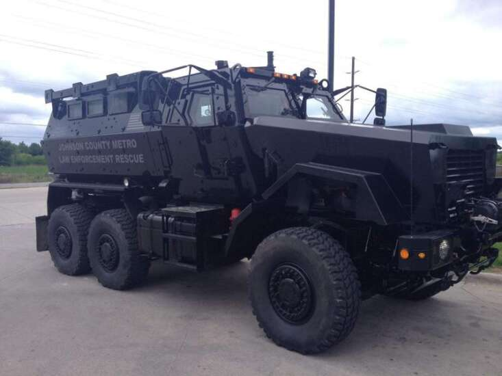 Johnson County will keep military armored vehicle