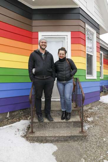 The story behind the new rainbow-colored house on Eighth Avenue SW in Cedar Rapids