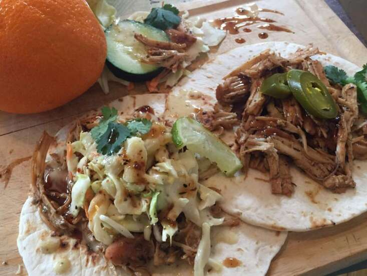 Spices, pineapple in Jamaican jerk chicken tacos can be addictive