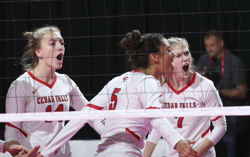 No. 1 Cedar Falls drops the opener, then roars back to the 5A state volleyball final