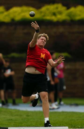 Iowa state track 3A boys' results: Clutch final throw lifts Marion's Garret Wagner to 2nd in shot put