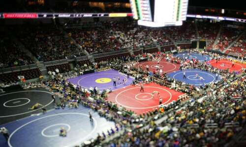 Timelapse: Scenes from the Iowa state wrestling tournament