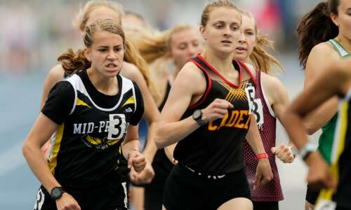 Another Hostetler win, another state track championship for Mid-Prairie