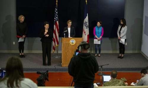 WATCH: Iowa Gov. Kim Reynolds' coronavirus news conference Monday, March…