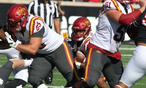 Inexperienced Iowa State offensive line shows it's capable