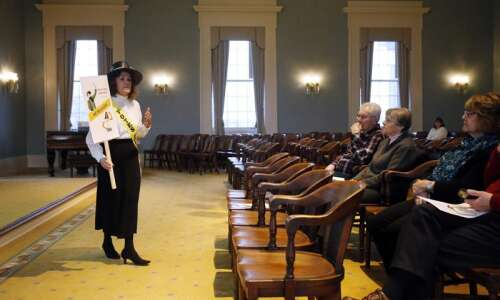 Celebrating suffrage: Retired college professor digs into Iowa archives for…