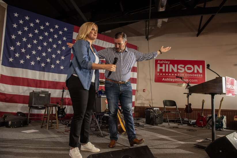 At Ashley Hinson reelection kickoff, GOP rips Democrats, Biden for attempts to 'transform America'