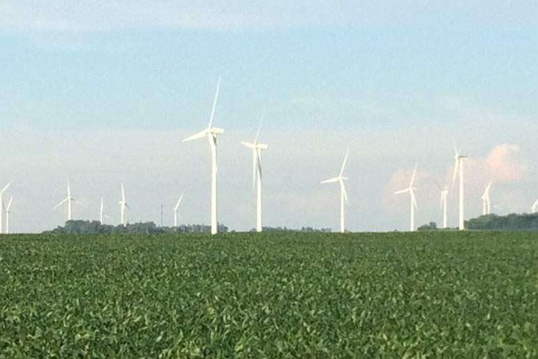 Iowa leads nation in percentage of electricity from wind
