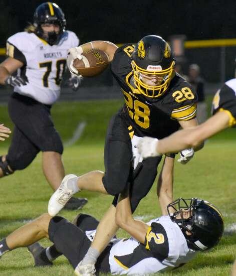 Mid-Prairie football victorious on Senior Night