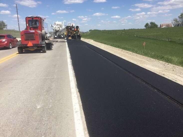 Shoulder work begins on Highway 22 from Kalona to Riverside