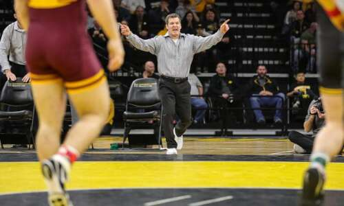 It's 'onward' for top-ranked Iowa wrestling team