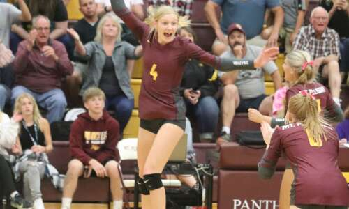 Emotional win for Mt. Pleasant volleyball team