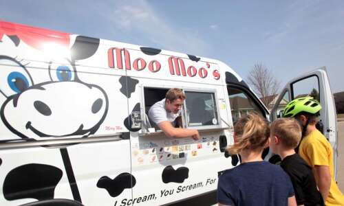 Solon based Moo Moos Ice Cream trucks sell all Iowa-made…