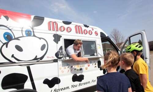 Solon based Moo Moos Ice Cream trucks sell all Iowa-made…