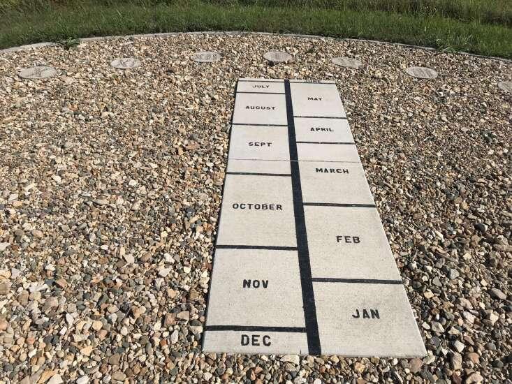Human sundial in Lowe Park honors longtime Marion volunteers