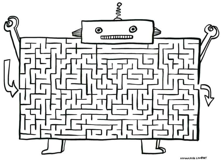 Escape the maze: Do the robot