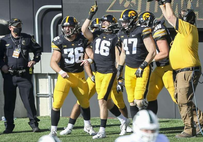 Charlie Jones takes advantage of his opportunity at Iowa