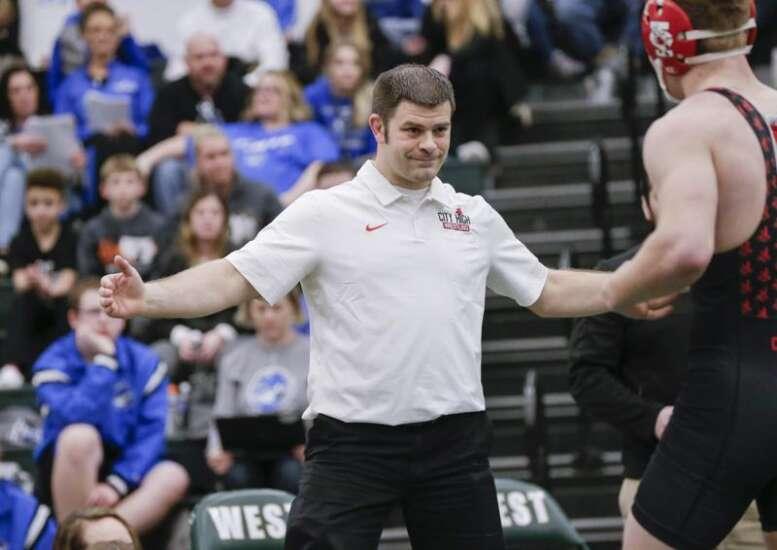 Photos: Class 3A Iowa high school wrestling district tournament at Iowa City West