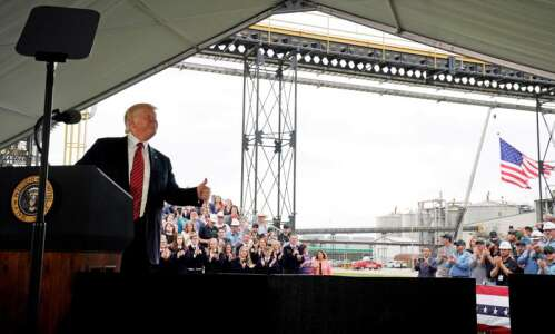 President Trump was relatively tame during Iowa visit